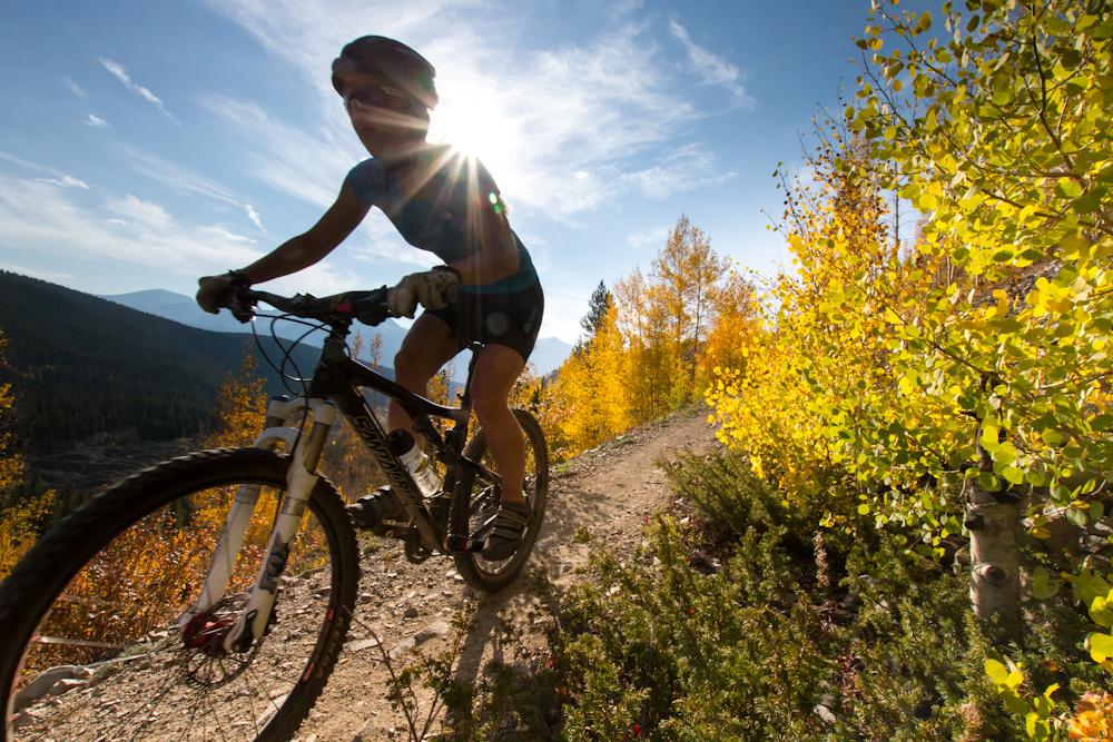 mountain biking breck