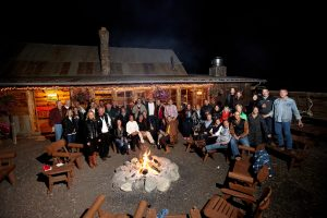 Ending an evening at 4 Eagle Ranch with a classic campfire. Event planned by DSC, photo by Gaston Photography.
