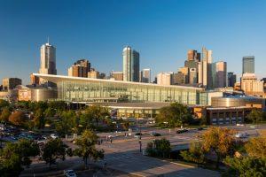 Colorado Convention Center & the downtown Denver skyline. Photo by Scott Dressel-Martin.