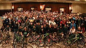 Bike Build: 700 people build 140 bikes for charity. Photo courtesy of CBST Adventures.