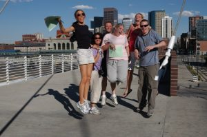 Team-building using GPS technology in downtown Denver. Photo courtesy CBST Adventures