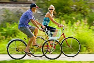 Get out for a spin on a cruiser bike on local bike paths.