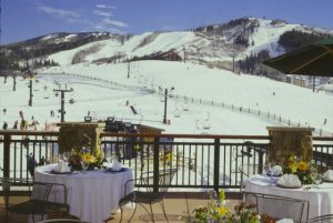 Beautiful day for a patio lunch at Sheraton Steamboat Resort & Villas in Steamboat Springs.