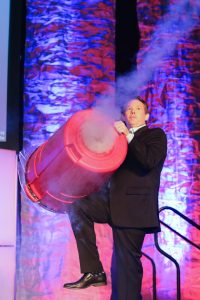 Speaker and scientist Steve Spangler wows the crowd at the MIC conference. Photo by All Digital Photo & Video.