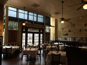 Back dining room at The Palm in Denver.