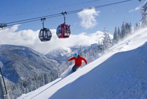 Skiing powder at Aspen Mountain. Courtesy of Aspen Skiing Company.