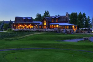 A busy River Valley Ranch clubhouse at dusk. Courtesy RVR.