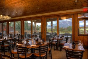 The dining room at River Valley Ranch Golf Club offers great food and incredible views. Courtesy RVR.