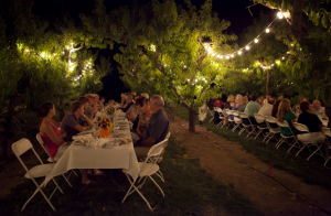 Dinner party at Z's Orchard in Palisade. Photo courtesy of Grand Junction VCB.