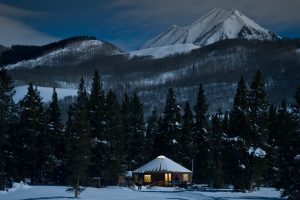 Snowshoe or ski to a Yurt Dinner in Crested Butte. Courtesy of Crested Butte Nordic Center/Xavier Fane.