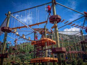 Open Air Adventure Park high-ropes challenges. Photo by Biju Sukumaran.