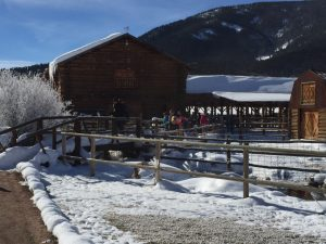 Meeting in the barn at Waunita Hot Springs Ranch. Photo by Beth Buehler.