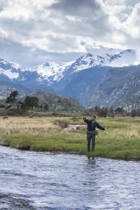 Fly fishing on the Big Thompson River in Rocky Mountain National Park. Photo by James Frank.