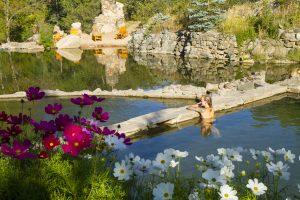 Strawberry Park Hot Springs in Steamboat Springs. Courtesy of Steamboat Springs Chamber Resort Association/Noah Wetzel.