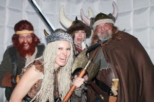 This crazy crew may be looking to plunder but they really are in a photo booth at an Ullr Fest event at Dobson Ice Arena in Vail. Phot by A Custom Look Photography.