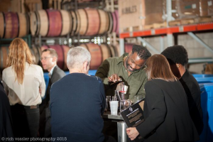 Wine blending at Infinite Monkey Theorem winery in Denver. Photo by Rich Vossler Photography.