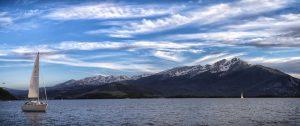 Sailing on Lake Dillon. Photo by Tripp Fay.