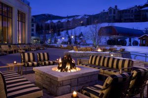 Park Hyatt Beaver Creek Resort and Spa's many fire pits provide a great backdrop for relaxing or gathering. Courtesy Park Hyatt Beaver Creek.