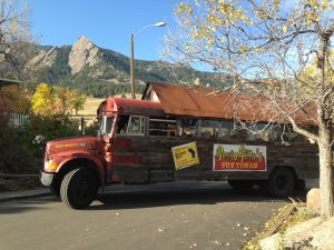 Banjo Billy's Bus Tour is a colorful way to see the sights in Boulder. Courtesy of Boulder CVB.