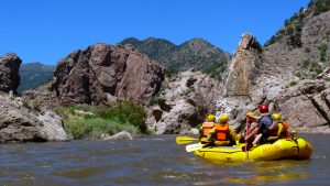Rafting the Arkansas River is the ultimate outing for team-building. Courtesy VisitCOS.com.