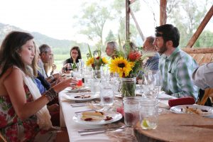 ACES summer farm-to-table dinners at Rock Bottom Ranch sell out almost immediately. Courtesy ACES.