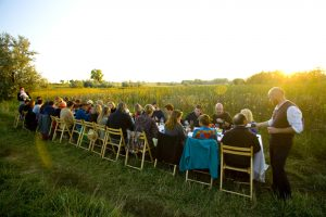 A Boulder farm dinner complete with a sunset. Photo by Paul Bousquet.