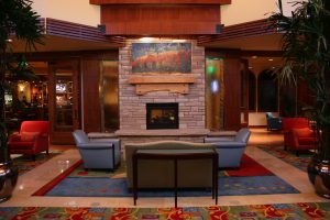 Fort Collins Marriott's recently renovated lobby. Courtesy Visit Fort Collins.