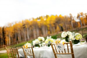 Outdoor fall reception at Viceroy Snowmass. Courtesy Viceroy Snowmass.