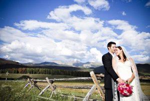 Summer wedding at Devil's Thumb Ranch Resort & Spa. Courtesy Devil's Thumb Ranch.