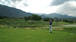 Golfing in the beautiful setting of Cheyenne Mountain Resort in Colorado Springs. Courtesy Cheyenne Mountain Resort.