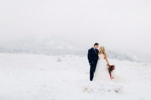 Josh and Megan's winter wedding in Boulder and the Hotel Boulderado. Photo by Mallory Munson Photography.