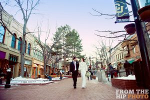 Strolling Boulder's Pearl Street Mall. Photo by From the Hip Photo.
