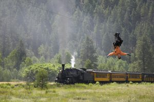 Soaring Tree Top Adventures, the longest zip line course in the U.S., is a full-day adventure accessible only by Durango & Silverton Narrow Gauge Railroad. Courtesy Soaring Tree Top Adventures.