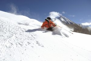 Skiing powder at Crested Butte Mountain Resort. Courtesy CBMR.