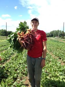 Picking produce at Cure Farm in Boulder.