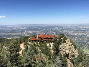 The Broadmoor's Cloud Camp provides elevated views and a venue for small workshops and meetings. Photo by Beth Buehler.