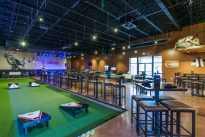 The Wild Game clubhouse with bocce court can keep reception guests entertained for hours.