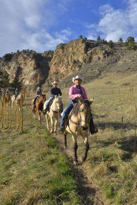 Horseback riding near Loveland.