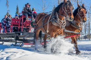 Sleigh ride at YMCA of the Rockies' Snow Mountain Ranch.
