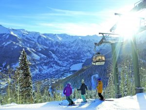 Telluride's free gondola runs between town and Mountain Village in all seasons.