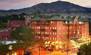 Hotel Boulderado has a prime location in downtown Boulder. Courtesy Hotel Boulderado.