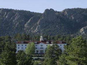 The Stanley Hotel has a majestic presence in Estes Park. Courtesy Visit Estes Park.