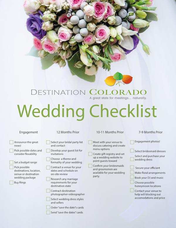 Colorado Destinations Weddings Planning And Checklist