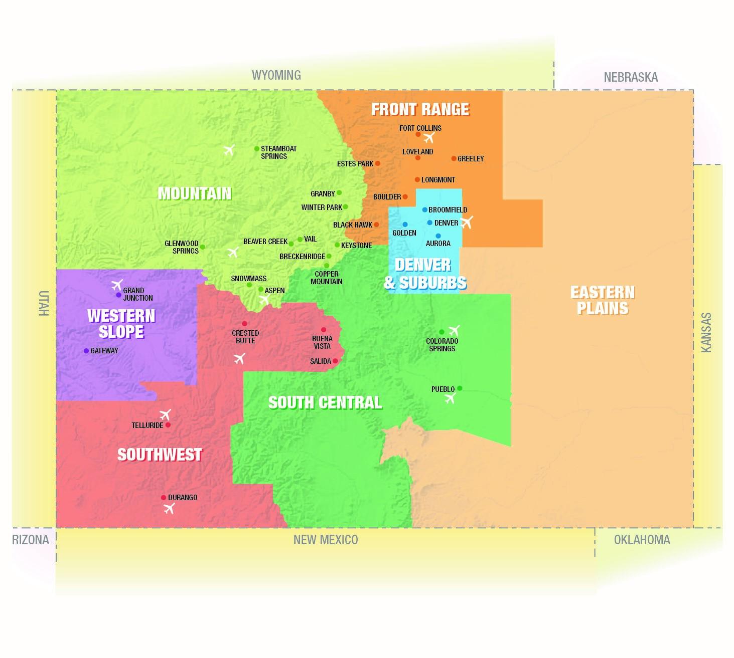 Colorado Regions & Cities
