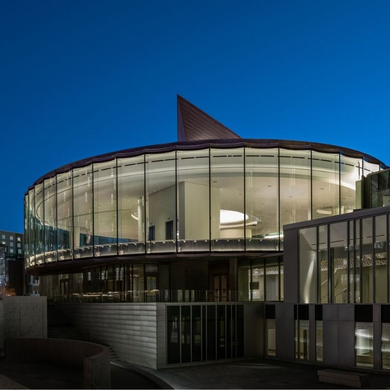 The Denver Art Museum's new Anna and John J. Sie Welcome Center's second floor features 10,000 feet of event and programming space. Photo by James Florio.